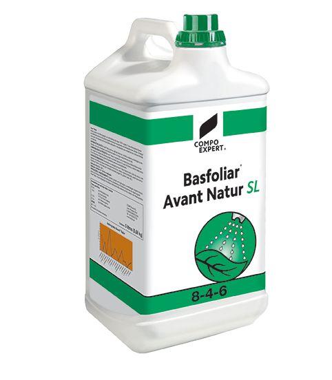 Basfoliar Avant Natur 8-4-6 Υγρό οργανο-ανόργανο λίπασμα με υψηλή περιεκτικότητα σε αμινοξέα 100% φυτικής προέλευσης εμπλουτισμένο με ανόργανο άζωτο, φώσφορο και κάλιο. Τα αμινοξέα προέρχονται αποκλειστικά από ενζυματική δραστηριότητα με μέθοδο που διαφυλάσσει τη σύνθεση και την ποιότητα των αμινοξέων σε μορφή απόλυτα αφομοιώσιμη από τα φυτά. Ιδανικό για διαφυλλική εφαρμογή αλλά και υδρολίπανση, κατάλληλο για κάθε καλλιέργεια.  Σύνθεση: 8,1% συνολικό άζωτο (3,0% σε οργανική μορφή, 1,8%…