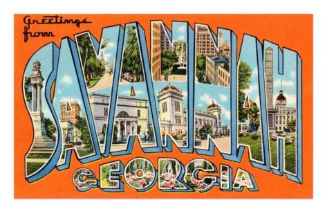 Greetings from Savannah, Georgia Poster