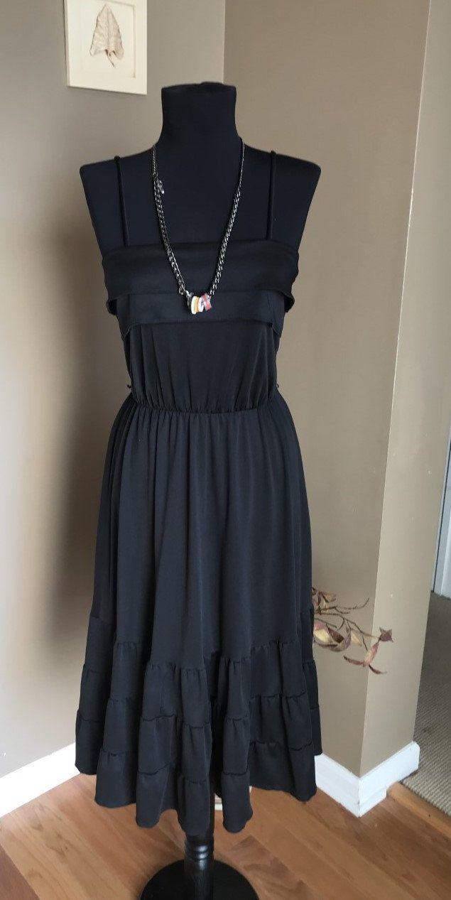 70s Entourage Sleeveless Dress Little Black Dress Vintage Etsy Vintage Black Dress Little Black Dress Black Dress [ 1267 x 635 Pixel ]
