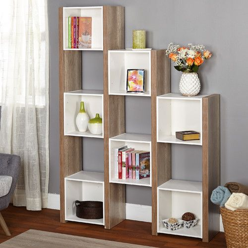 Features:  -Urban collection.  -Can use as a room divider or bookshelf.  Product Type: -Cube unit.  Style (Old): -Modern.  Finish: -Sonoma oak; White.  Frame Material: -Other/Laminate.  Shelving Inclu