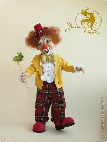 Куклы Валяние фильцевание Клоун Пьер Шерсть фото 5