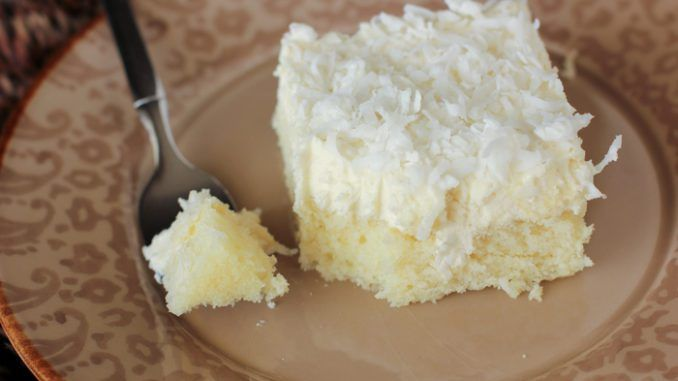 Very Moist Coconut Sheet Cake – Healthy To Fit