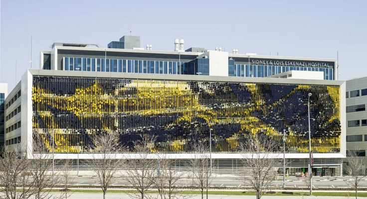 Parking Structure Art Facade by Urbana in Indianapolis, USA