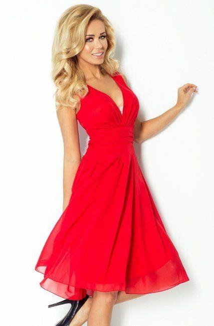 Kaunis Naisellinen Imetys-mekko Numoco 35-3 Red - Bella Bambina