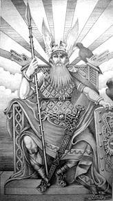 Odin (norrønt: Óðinn) er ifølge norrøn mytologi den mektigste og klokeste av gudene. Han ble både regnet som gudenes høvding og høvdingenes gud. Foreldrene hans er Bor og Bestla, og han er bror til Vilje og Ve. Hustruen hans er Frigg, den mektigste gudinnen i Åsgard, og med henne fikk han Balder, Hod og Hermod. Med Jord (Fjorgyn) fikk han Tor. Med Rind fikk han Våle, og med Grid fikk han Vidar.