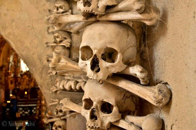 Bone church, Kutna Hora, Czech Republic.