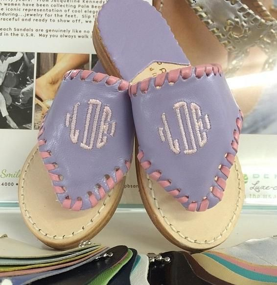 Child's Monogrammed Palm Beach Sandal At The Pink Monogram- just for kids too!