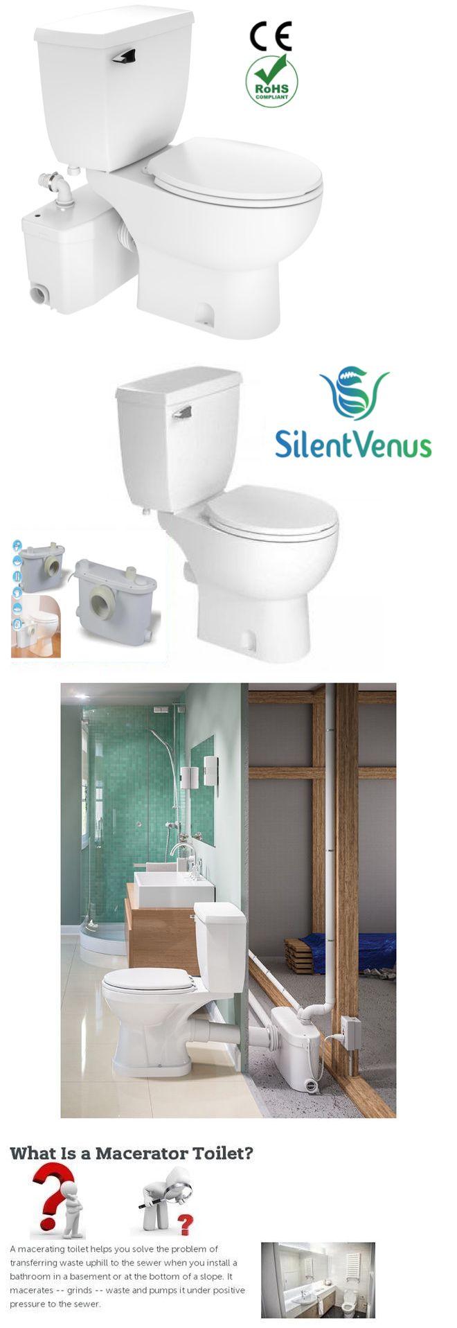 Toilets 71284: Silent Venuspare To Saniflo Macerating Upflush Toilet  Kit With Standard Bowl