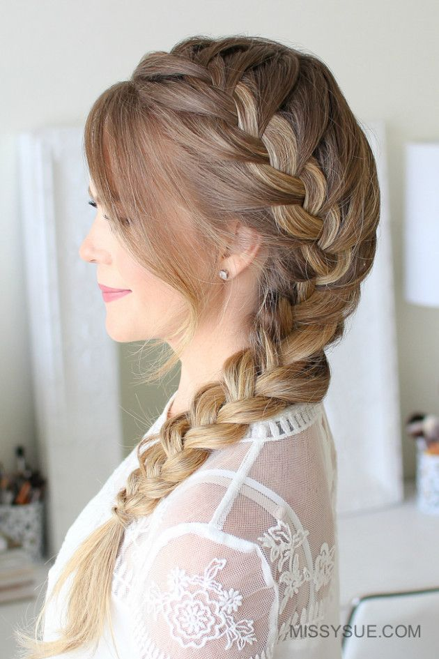 Wedding Hairstyles Trenza French Fishtail Side French Braids Hair Styles Long Braided Hairstyles