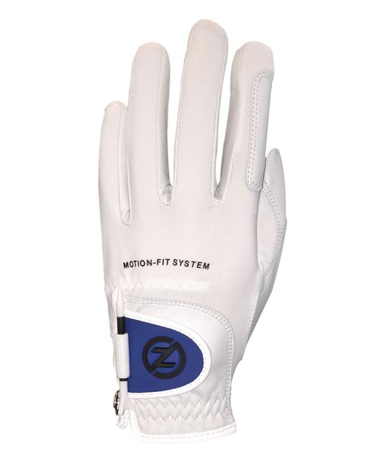 White & Blue Johnny Miller Motion-Fit Left-Hand Golf Glove - Men