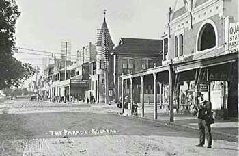 Railway Parade in Kogarah in southern Sydney in 1912.
