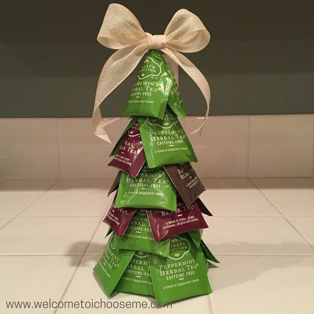 Tea Bag Christmas Tree - I Choose Me