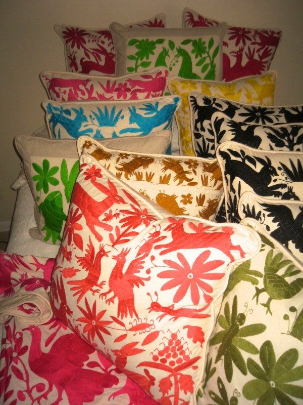 Otomi Hand Embroidered Pillow. $87.00, via Etsy.