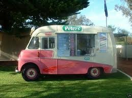 mr whippy van with Australian Peters ice cream advertising sign on it • I love Mr Whippy ice cream • who is riawati