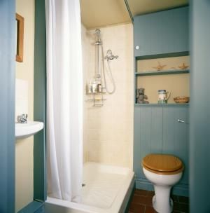 Can You Install a Fiberglass Pan in Your Tile Shower?: Shower With a Fiberglass Shower Pan