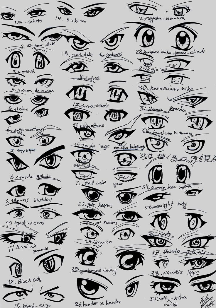 39 male anime eyes by eliantART.deviantart.com