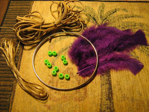 Dream Catcher Kit for 5 inch dream catcher be by DreamWeaverJewels, $10.00