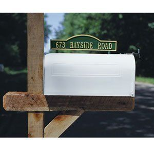 Two Sided Arch Mailbox Marker by Whitehall. $50.99