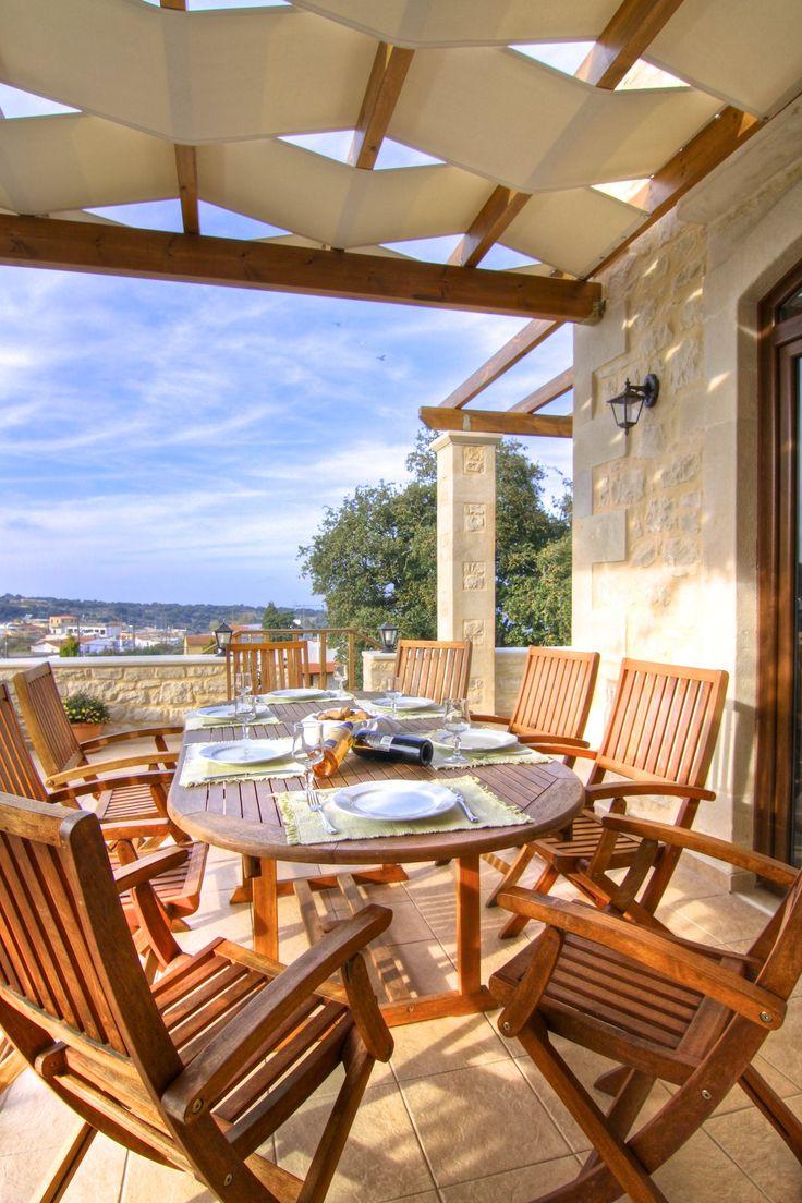 www.eleftherna.gr Villa Eleftherna Crete #villa #Crete #Greece #village #holidays #vacation_rental #luxury #private #summer_in_greece #visit_crete #pool #holiday