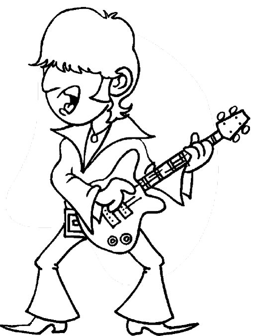 Rock and roll coloring pages free ~ 192 best images about Rock and roll theme on Pinterest ...