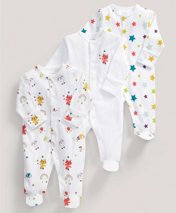 Unisex Essentials Three Pack of Timbuktales All-in-Ones - All Unisex - Mamas & Papas