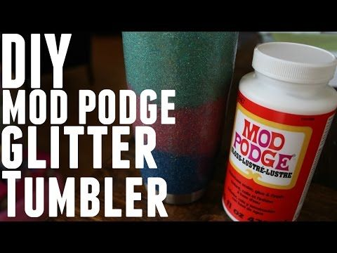 DIY - HOW TO GLITTER MOD PODGE YETI REC PRO OZARK TRAIL - YouTube