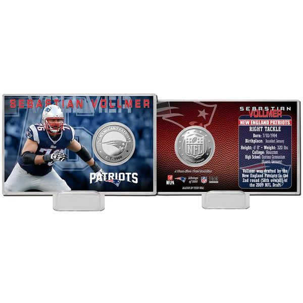 Sebastian Vollmer New England Patriots Highland Mint Player Coin Card - $19.99