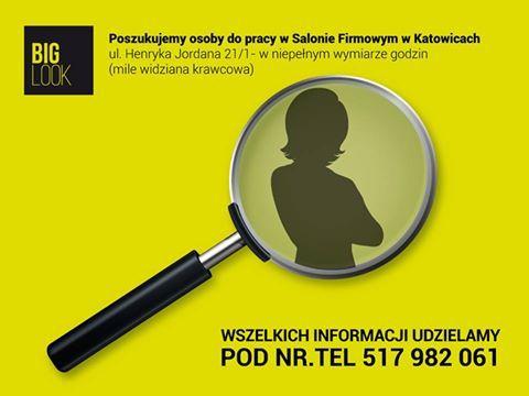 Poszukujemy osoby do pracy w Salonie Firmowym w Katowicach ul. Henryka Jordana 21/1 - w niepełnym wymiarze godzin (mile widziana krawcowa). Wszelkich informacji udzielamy pod nr.tel 517 982 061