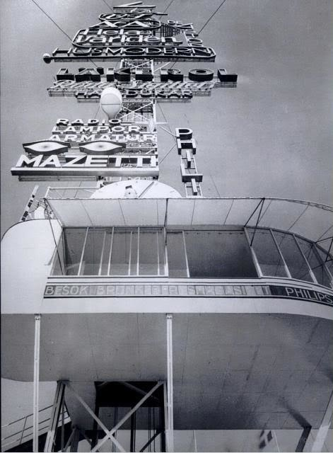 Sigurd Lewerentz one more time, C.G. Rosenberg, Photograph of Asplund's Advertising Mast (1930)