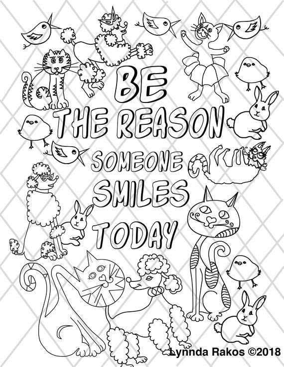 Instant Digital Download Coloring Page Animals Saying Etsy In 2021 Coloring Pages Bible Verse Coloring Page Color Quotes