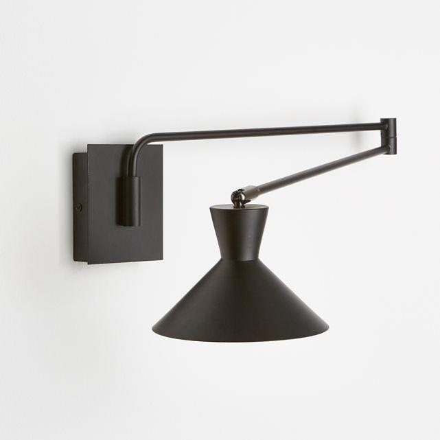Wandlamp met verstelbare arm, Voltige AM.PM. : prijs, mening en score, levering. Wandlamp Voltige. De perfect aan te passen wandlamp dankzij de verstelbare arm. Elegant en sober model. Eigenschappen : - In metaal, afwerking in epoxy. - Schakelaar op de basis. - Fitting E14 voor spaarlamp 11W (niet bijgelverd). - Compatibel met lampen met energiewaarde A. Afmetingen : - Lampenkap Ø17 cm. - Basis : B9 x H11 x D2,8 cm- Lengte arm deel 1 : 40 cm, arm deel 2 40,4 cm- Rotule Ø2 cm. - Max....