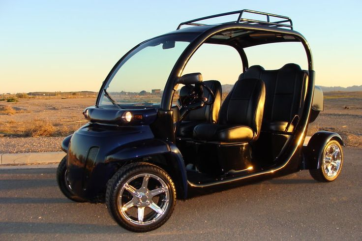 "FULL CUSTOM GEM CAR, 4 SEAT LIMO GOLF CART, NEW BATTERIES & CHARGER, 14"" RIMS $2,650"