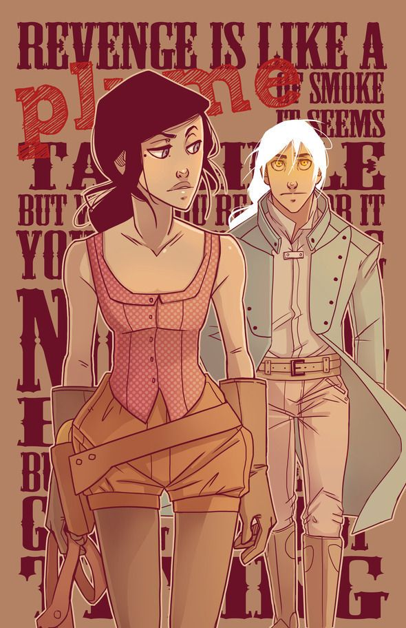 Plume is a western fantasy following the adventures of Vesper Grey, a young lady who trades her gowns for guns to finish her father's research alongside her supernatural partner Corrick.  Amazing art and characters! Read it at plumecomic.com!