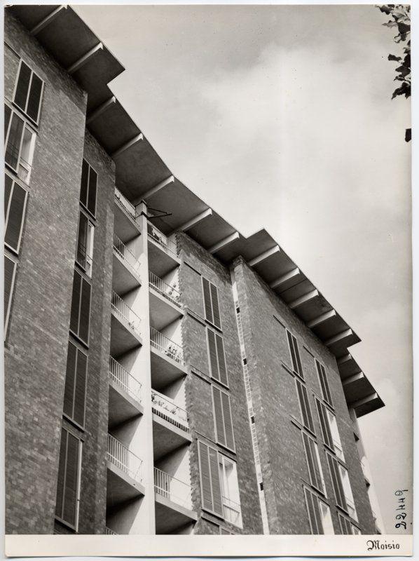 Casa per impiegati Borsalino Alessandria, Ignazio Gardella, 1948-1952