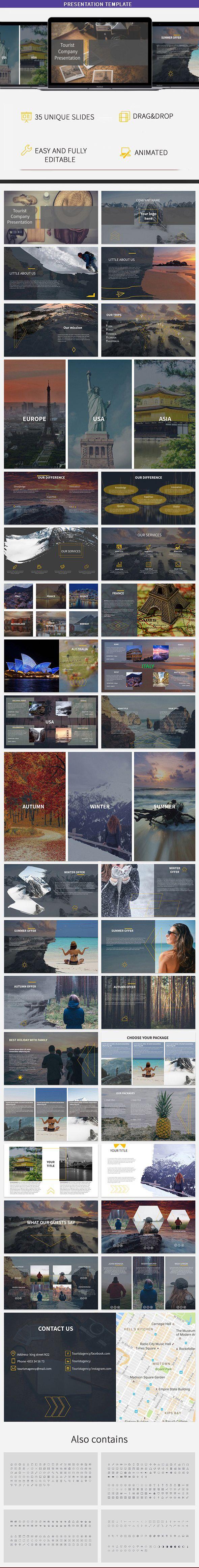 Tourist Company PowerPoint Presentation Template