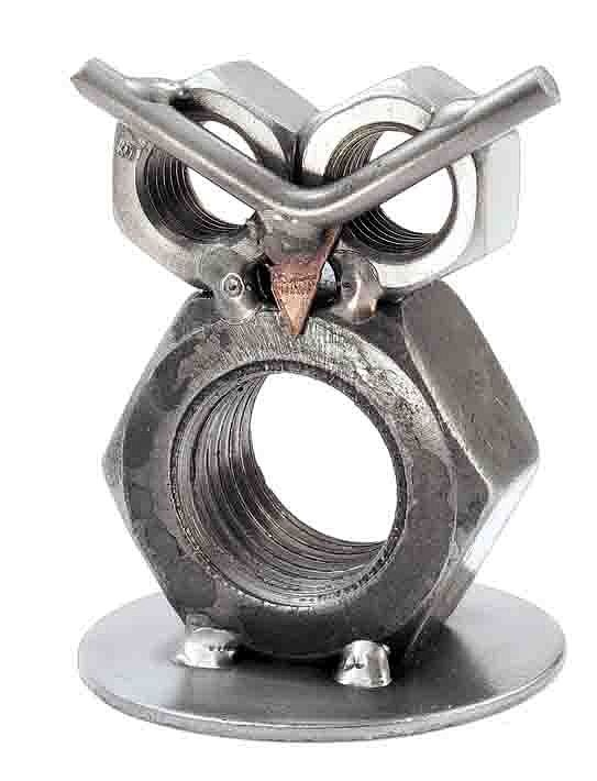 Hinz und Kunst Metall Tier - große Eule