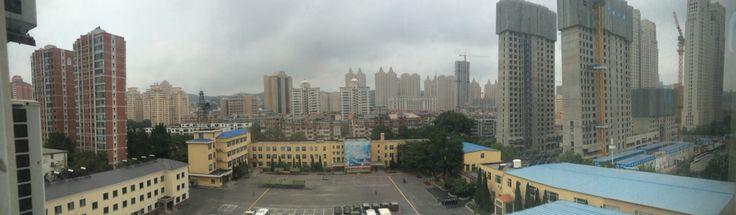 View from hotel Dalian China