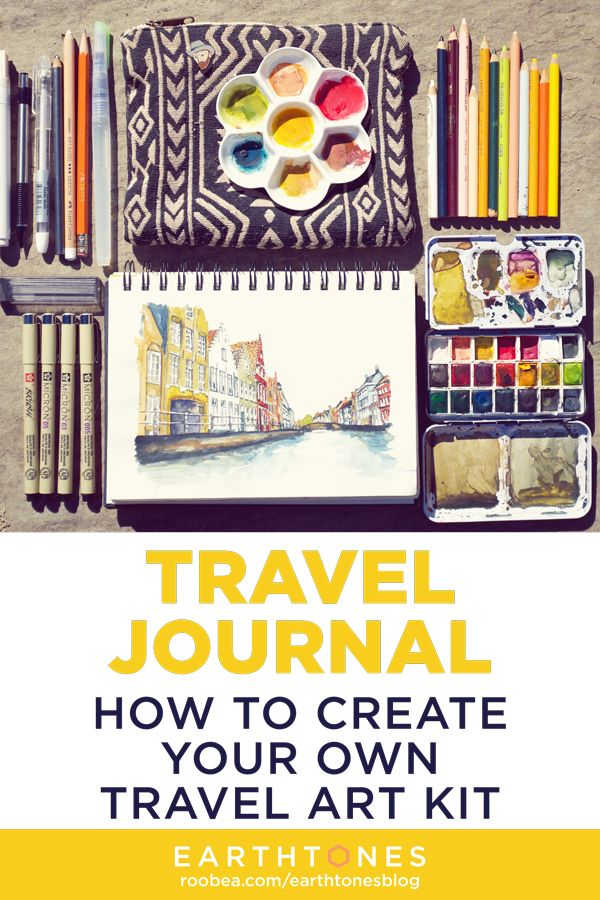 Create Your Own Travel Journal Art Kit A Supply List