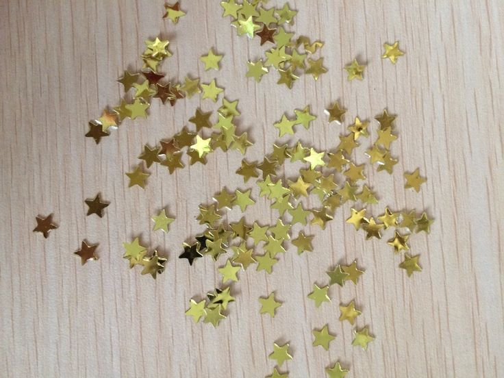 золотые звездочки Конфетти блестки