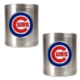 MLB Cubs 2 Piece Stainless Steel Can Holder Set