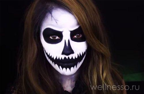 Хэллоуин страшный макияж