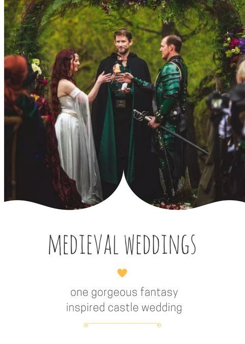 Selecting A Medieval Or Lord Of The Rings Lotr Wedding Theme