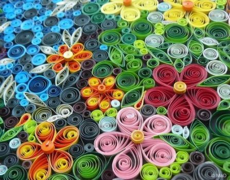 Quilled Paper Art (48 pieces)