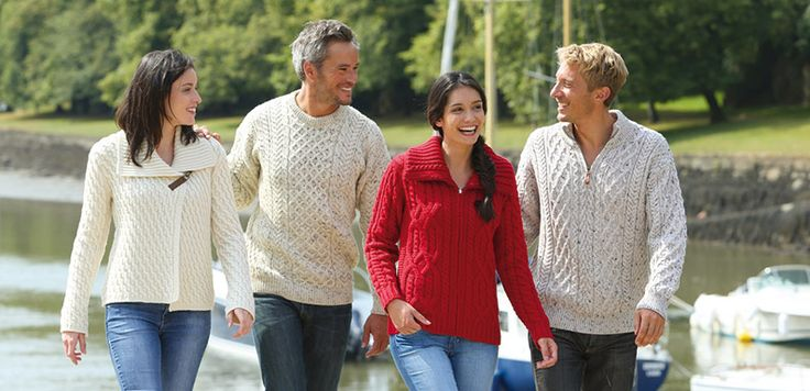 Le pull Aran - Pull traditionnel d'Irlande - Le Comptoir Irlandais