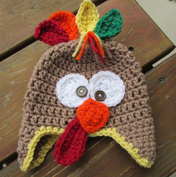 Baby Turkey Hat Fall Baby Hat Crochet Baby Hat Baby Photo