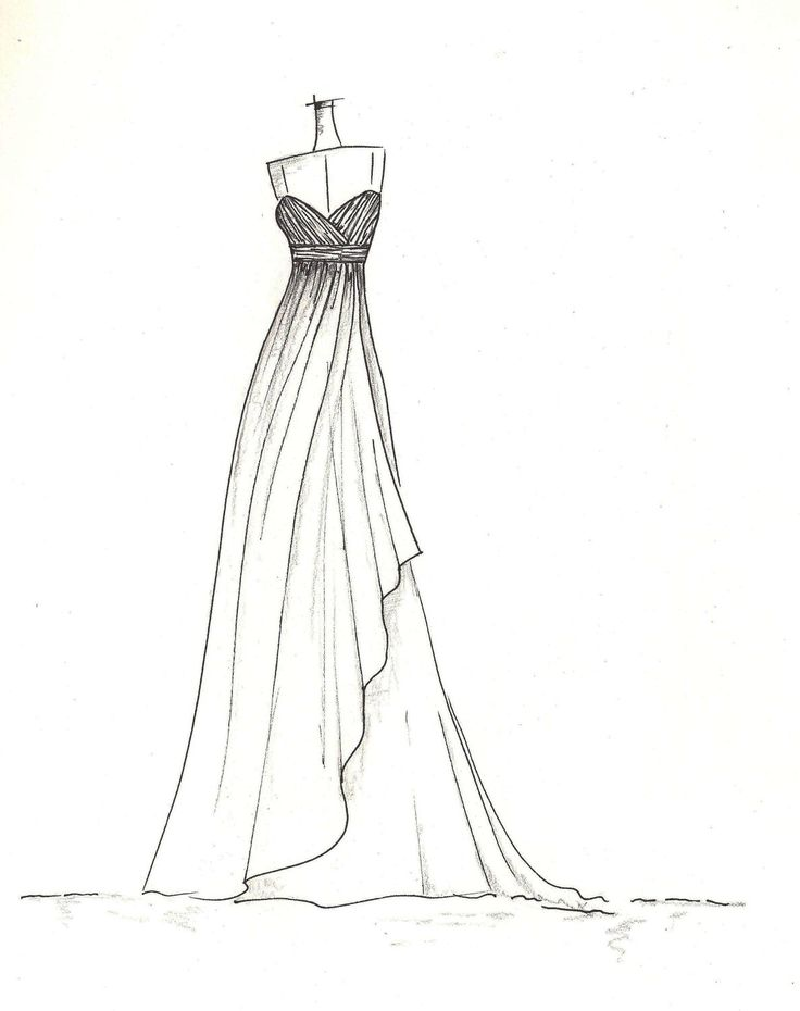 dress sketch of YOUR special dress - a perfect gift | clothes ...
