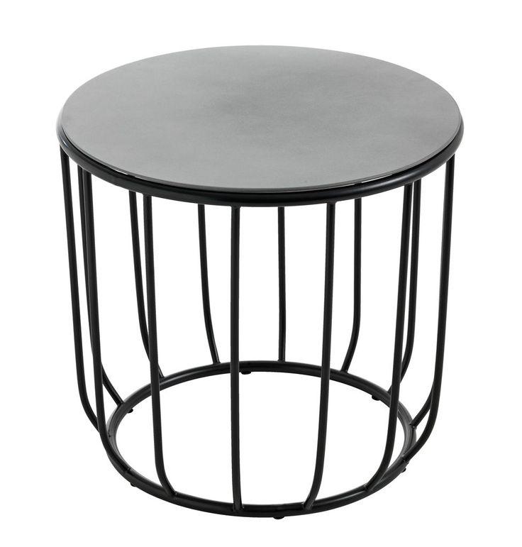 Sidebord PEJELT Ø50cm stål/sement | JYSK