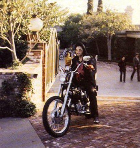Elvis On A Chopper Motorcycle Harley Davidson Road King