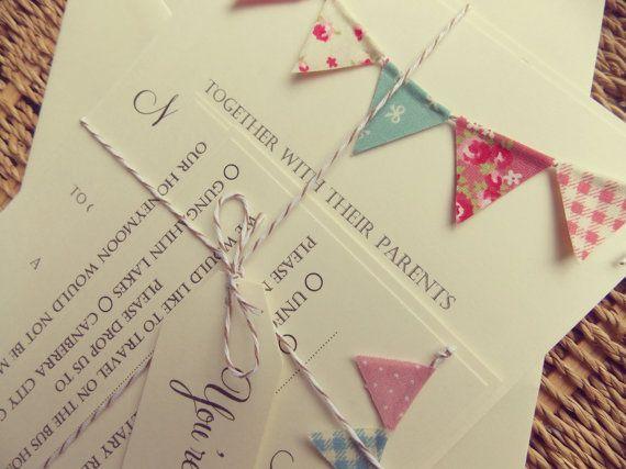 15 Must See Bunting Invitation Pins