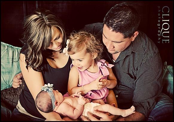 Family newborn shot www.clique-photography.com